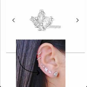 Beautiful marquise diamond earrings.